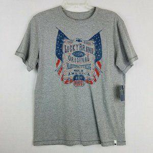 Lucky Brand Graphic Short Sleeve Tee Shirt XL New